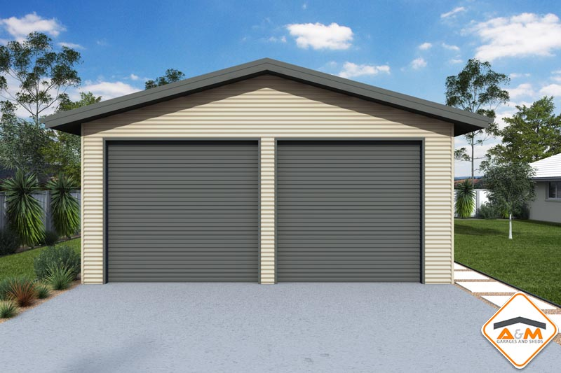 Gable garage with eaves