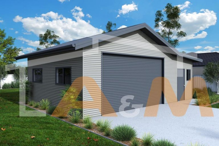Gable garage with eave extensions - EAVES_1