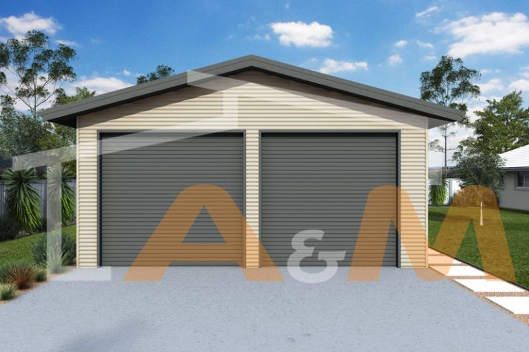 Gable garage with eaves_1