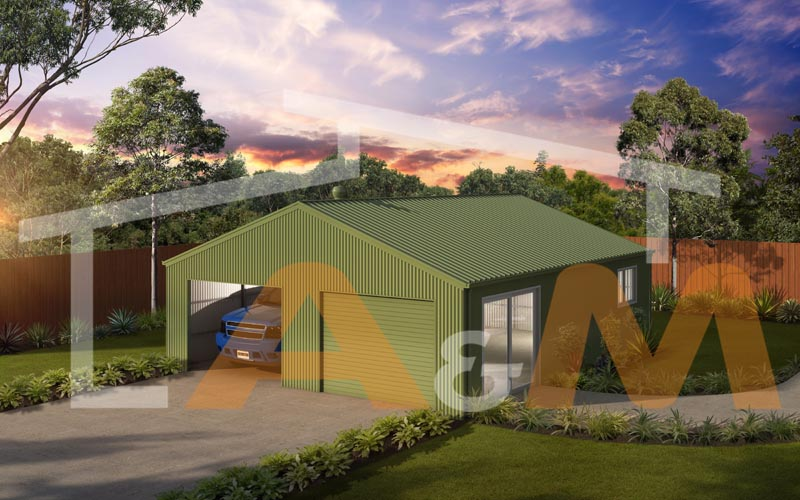 Gable roof double garage_1