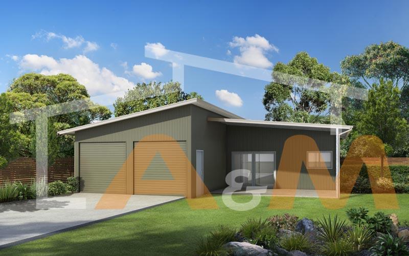 Skillion garage with office_1