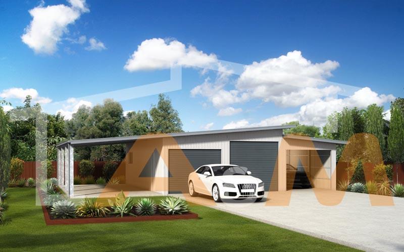 Skillion garage_1